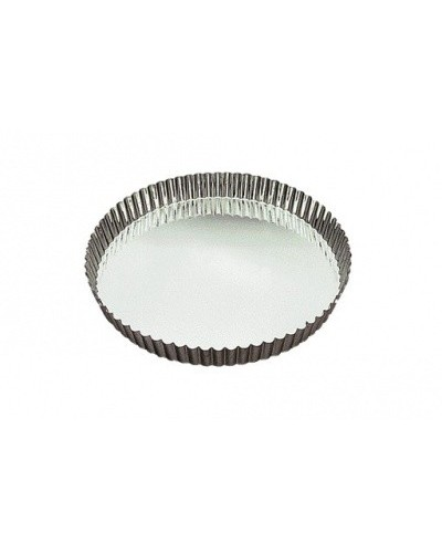 TOURTIERE FER BLANC CANNELEE FOND MOBILE