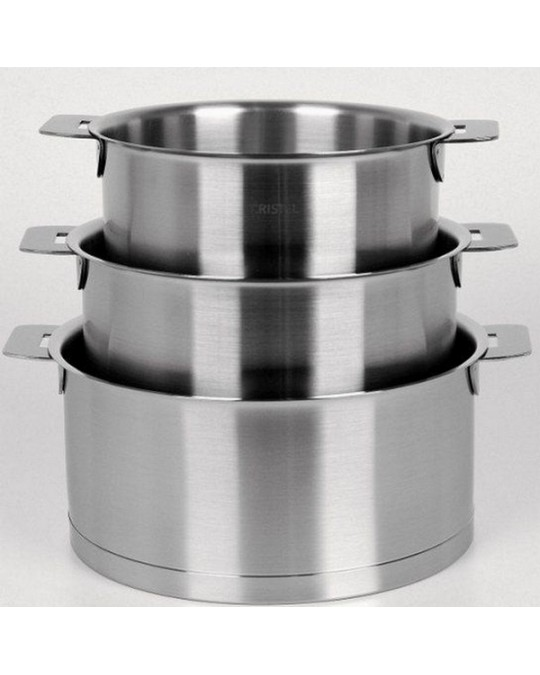 casserole poignee amovible cristel strate l 16 18 20 cm bellynck et fils. Black Bedroom Furniture Sets. Home Design Ideas