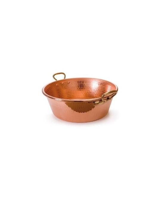 bassine confit re en cuivre mauviel m 39 passion poign es. Black Bedroom Furniture Sets. Home Design Ideas