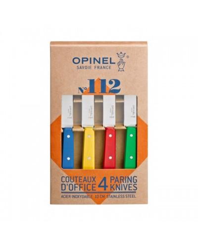 COFFRET 4 COUTEAUX OFFICE OPINEL COULEUR