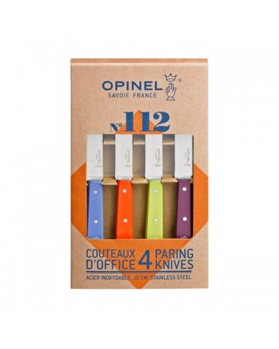 COFFRET 4 COUTEAUX OFFICE OPINEL ACIDULES