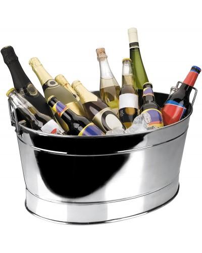 Vasque à Champagne Inox Ovale - Bellynck et Fils